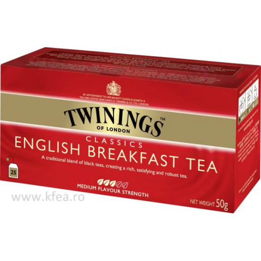 Twinings English Breakfast ceai negru 25 plicuri