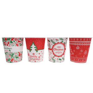 Christmas pahare manuale carton mici 6.5oz set 100buc